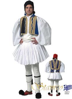 Παραδοσιακή Ενδυμασία ΕΥΖΩΝΑΣ  ΜΠΛΕ