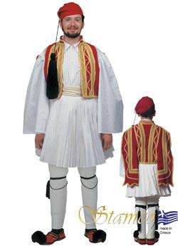Παραδοσιακή Ενδυμασία ΕΥΖΩΝΑΣ ΚΟΚΚΙΝΟ